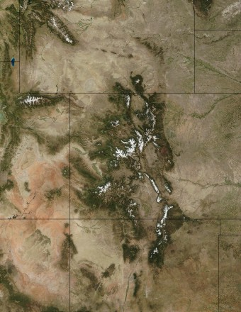 Colorado in first snow, courtesy NASA, Visible Earth, http://visibleearth.nasa.gov/